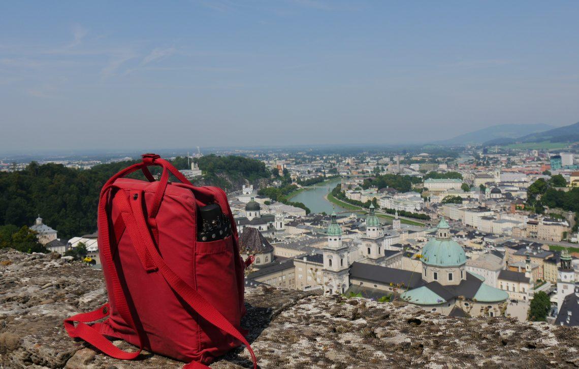 Il panorama di Salisburgo in Austria